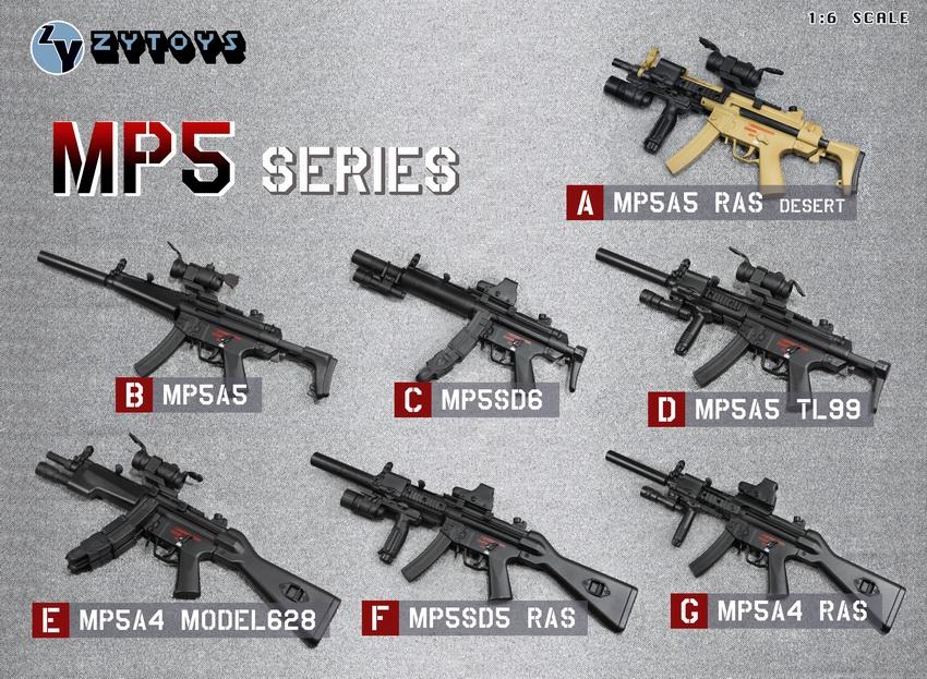 1:6th Scale MP5K