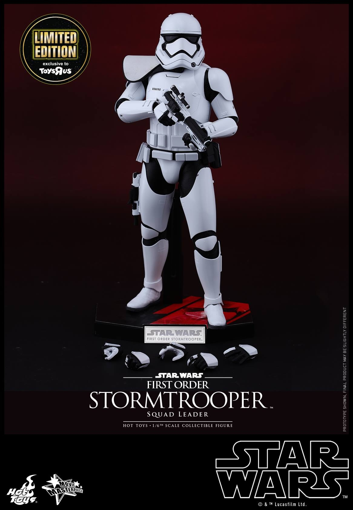 Hot Toys倾力制作星球大战第七步曲《星球大战7:原力觉醒》全球首个First Order Stormtrooper Squad Leader 1/6比例珍藏人偶 (TRU Exclusive版本),现在正式于香港尖沙咀海运大厦玩具反斗城「Star Wars Force Friday」午夜首卖派对独家现货发售,限量仅300个! 风靡全球的传奇科幻电影《星球大战:原力觉醒》,将于12月经典回归!为了让粉丝们抢先体验原力的强大威力, Hot Toys倾力製作星球大战第七步曲《星球大战:原力觉醒》全球首个F