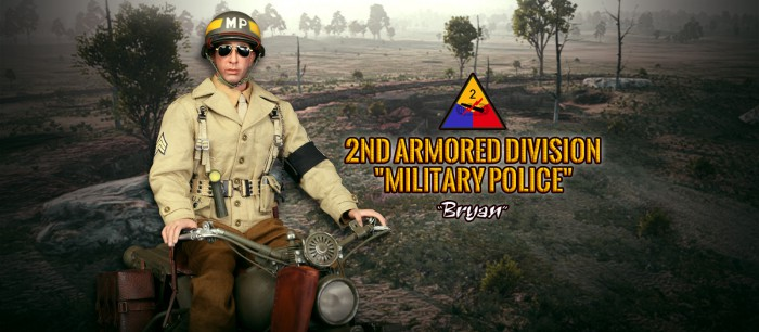 DID Web Belt WWII 2nd ARMORED DIVISION MP BRYAN 1//6 ACTION FIGURE TOYS