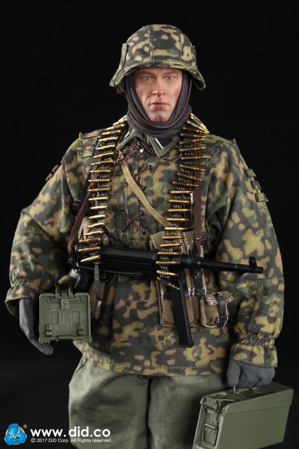 DID D80125 1//6 MG34 Deputy Shooter Head Sculpt