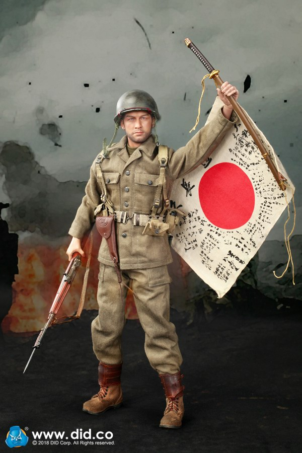 Captain Sam 77th Div - Japanese Sword 1//6 Scale DID Action Figures