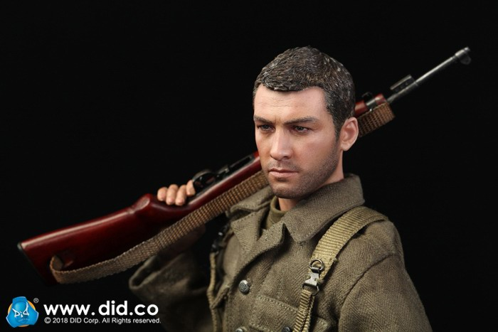 Action Figures 1//6 Scale Rifle Captain Sam DID WWII US 77th Inf