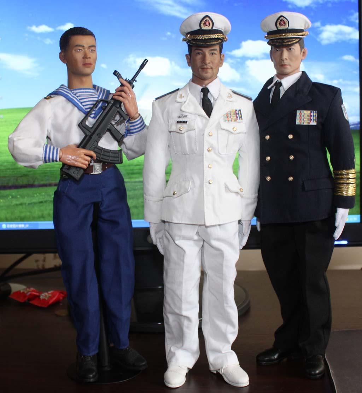 07式海军全白春秋常服和藏青常服图片